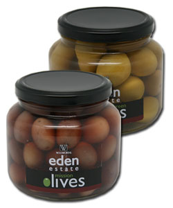 Eden Estate (the home of OSA) Olives packaged for Woolworths