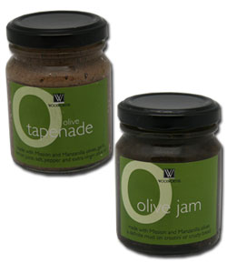 Olive Tapenade and Jam from OSA packaged for Woolworths